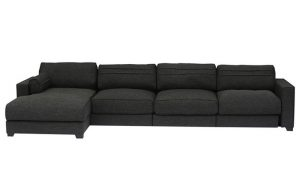 LHS Three Seater with Lounger Sofa