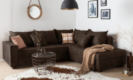 L Shape Leatherette Sofa