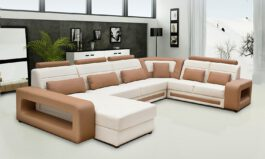 U shaped leatherette sofa 2 2 C Lounger Set