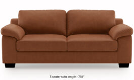 Modern Leatherette Sofa (Tan Brown)