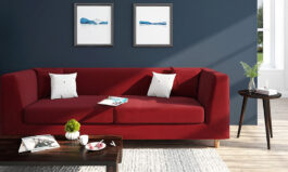 Rubik Sofa (Sangria Red)