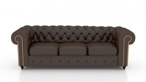 Urban Harold Leatherette 6 Seater with Puffy Sofa Set in Brown Color (3+2+1) (Harold-Leather-3)