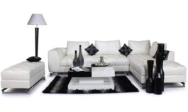 Urban 7 Seater Stylish Leatherette Sofa Set White