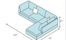Urban Cloutier 107″ Wide Right Hand Facing Sofa & Chaise by Urban Couch
