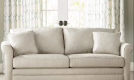 """Urban Bedfordshire 77"""" Rolled Arm Sofa with Reversible Cushions"""