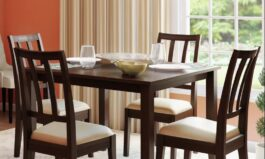 Urban Solid Wood 4 – Person Dining Set by Urban Couch