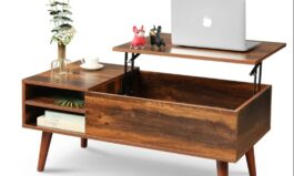 Urban Lift Top Extendable Solid Coffee Table with Storage