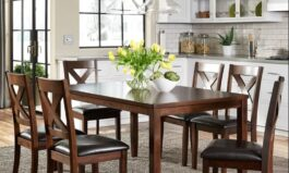 Urban Nadine Teak Wood 6 – Person Dining Set by Urban couch