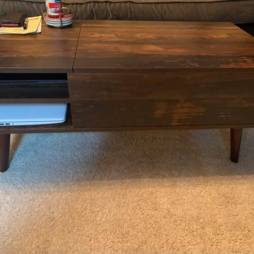 Urban Lift Top Extendable Solid Coffee Table with Storage photo review