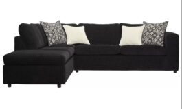 Isaacs 112″ Wide Left Hand Facing Sofa & Chaise
